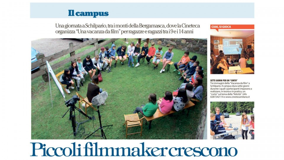 Piccoli film-maker crescono